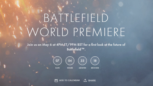 Battlefield 5 announcement set for May 6