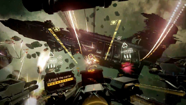 EVE: Valkyrie receives 'trench run' Carrier Assault update, VR cross-play